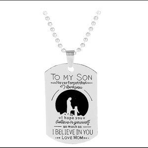 Jewelry - To my son dog tag pendant